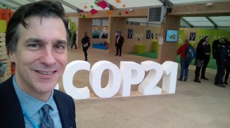Rowlands selfie and COP21